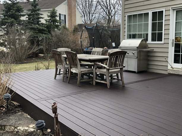 Platinum decking Barrington Deck builders _large deck _ Brown