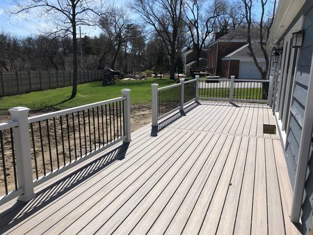 Platinum Decking Barrington Trex Decking_ Brown Picture frame
