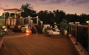 Trex deck lighting_ Tiki Trex deck_ Local deck builder