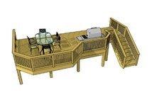 Deck plans, Deck ideas, Trex example 3