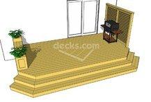 Deck plans, Deck ideas, Trex example 2