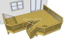 Deck plans, Deck ideas, Trex example 1