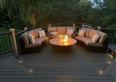 Deck builder- Deck lighting- backyard deck ideas- Spiced Rum