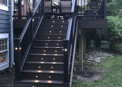 Trex Deck Stairs with Lighting- Barrington