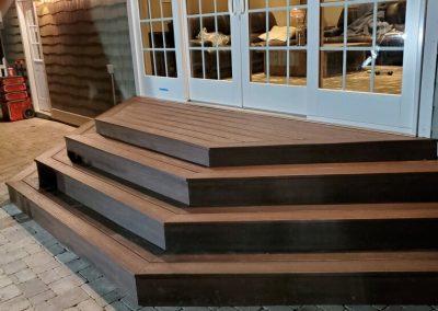 Trex Composite Deck Backyard Stoop- Trex Transcend- Mundelein
