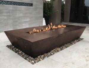 Trex Copper Fire Table