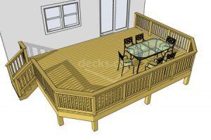 Deck plan- deck ideas- stairs left