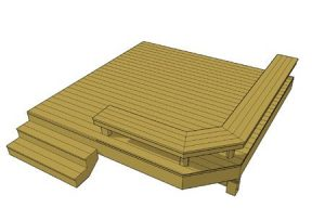 Deck plan- deck ideas- deck bench