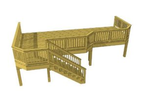 Deck plan- deck ideas- Stairs in front