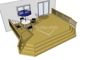 Deck plan- deck ideas- full stairs