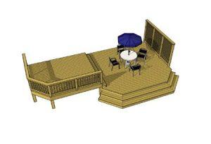 Deck plan- deck ideas- multi level