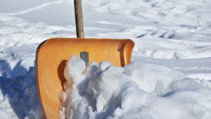 Deck Snow removal