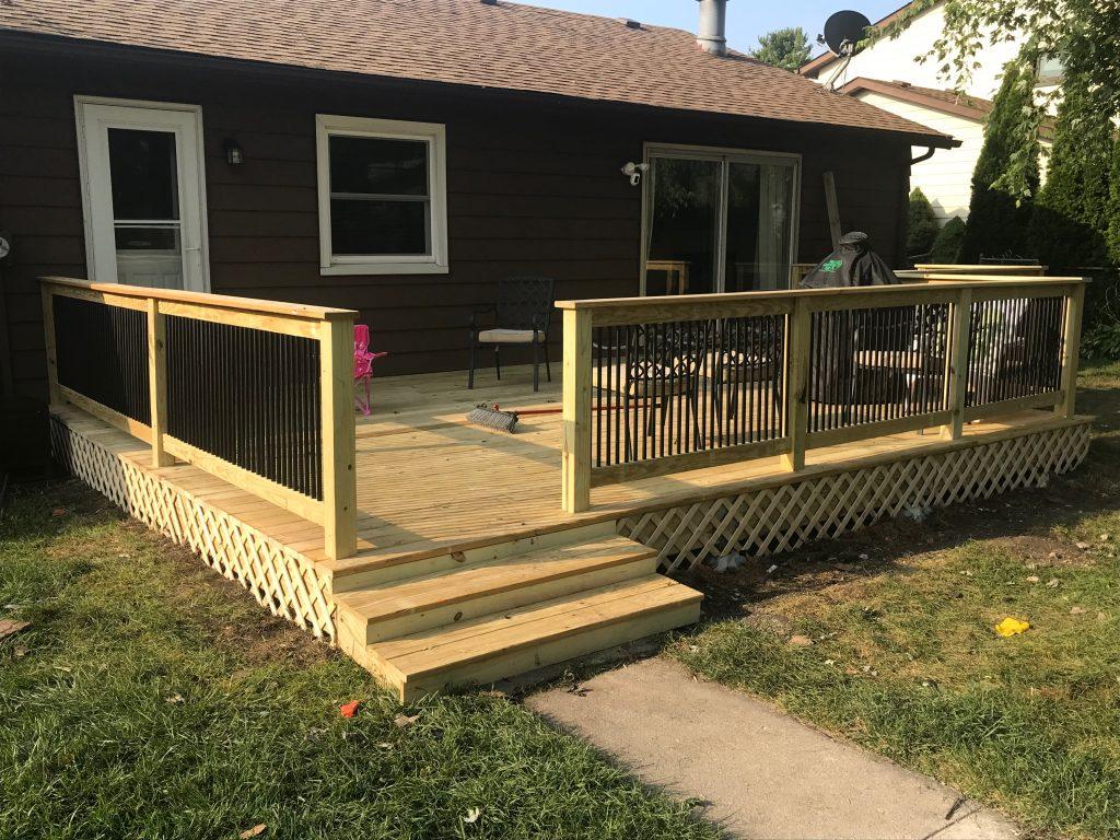 Pressure- treated- wood -deck
