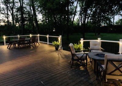 Trex Composite Deck - Trex Transcend Spiced Rum- Lake Barrington IL