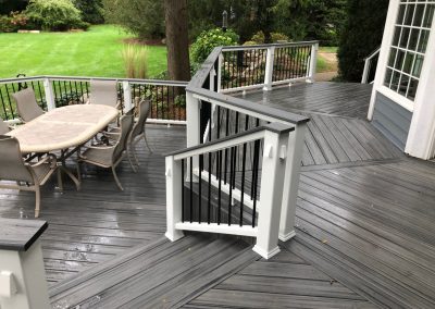 Trex Composite Deck- Island Mist with cocktail railing
