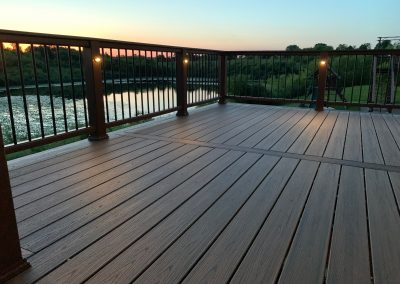 Trex Composite Deck- Spiced Rum Transcend with lighting