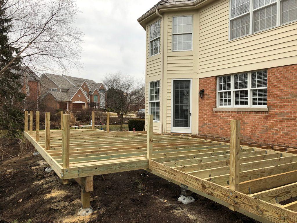 Pressure-treated-wood-deck-frame