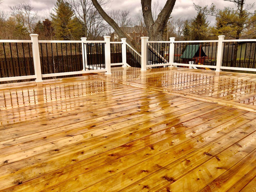 Cedar deck- Wood deck- Palatine