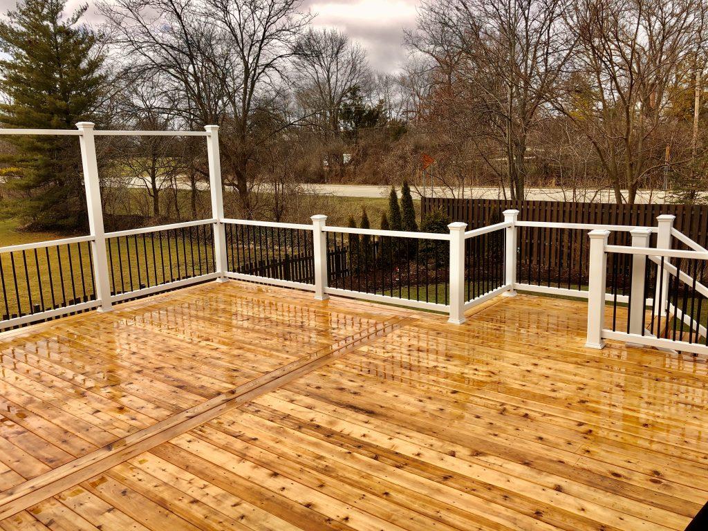 Cedar deck- Wood deck- Trex -railing-Palatine