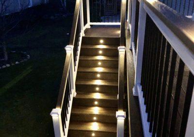 Deck stairs- deck lights- Trex