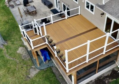 New deck with Trex Railings