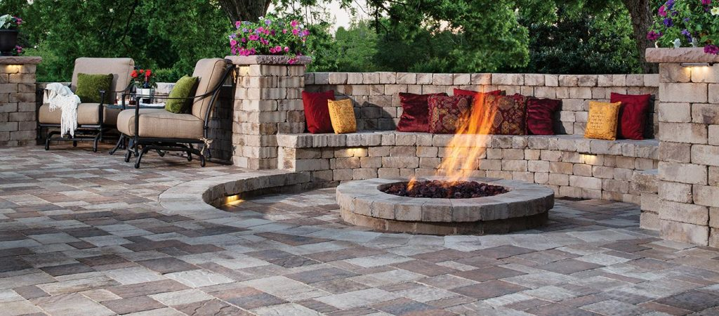 Belgard patio and fire pit