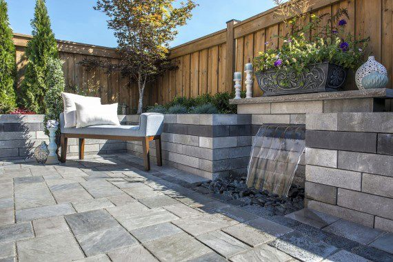 Unilock_water feature_ patio